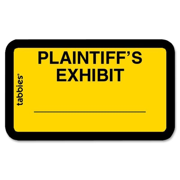 Tabbies Plaintiff's Exhibit Legal File Labels