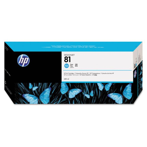 HP 81 Cyan Dye Ink Cartridge (C4931A)