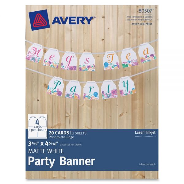 Avery Party Banner with Ribbon