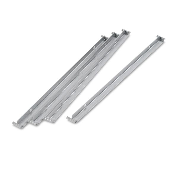 "Alera Two Row Hangrails for 30"" or 36"" Files, Aluminum, 4/Pack"