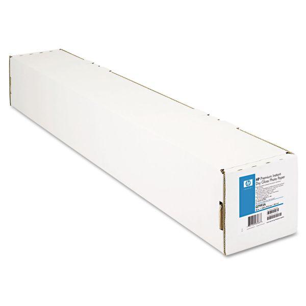 "HP Premium Instant-Dry Photo Paper, 36"" x 100 ft, White"