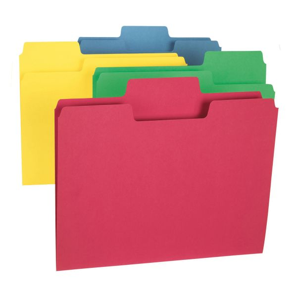 Smead SuperTab Red Colored File Folders