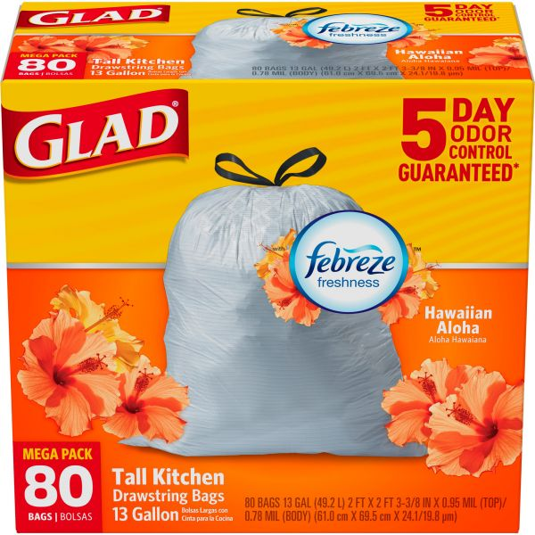 Glad OdorShield 13 Gallon Trash Bags
