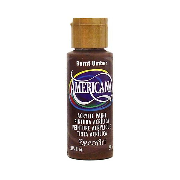 Deco Art Americana Burnt Umber Acrylic Paint