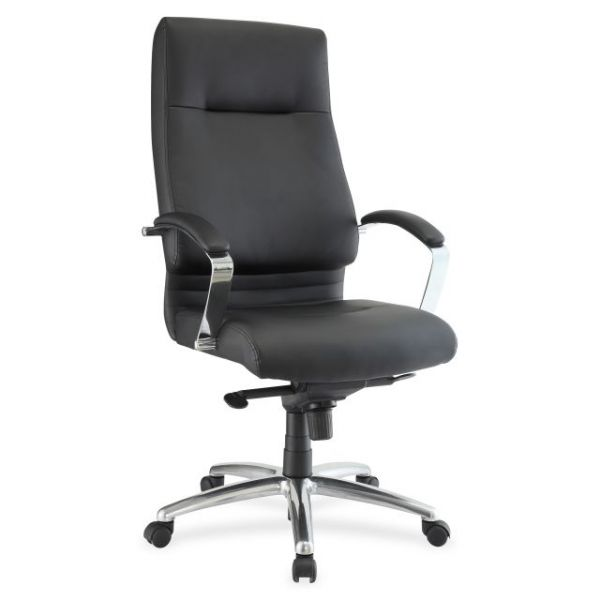 Lorell Modern Exec. High-Back Leather Office Chair