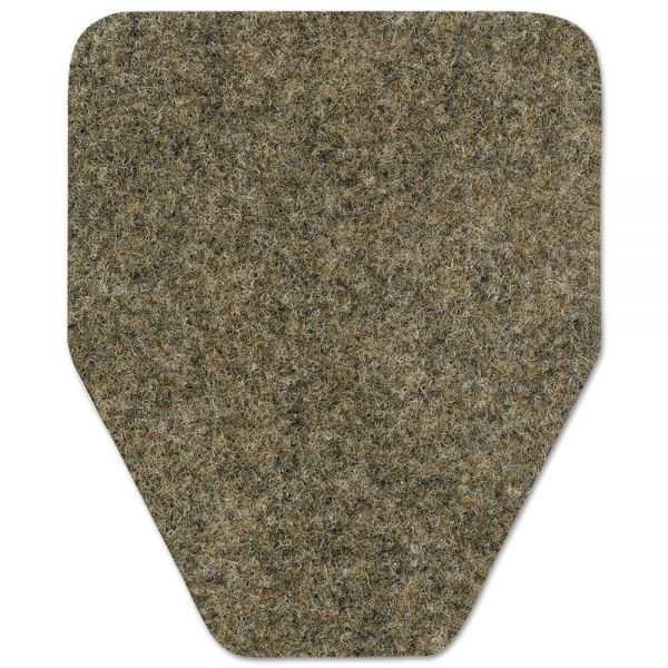 WizKid Antimicrobial Floor Mat, Urinal, 17 x 20 1/2, Brown, 48/Carton