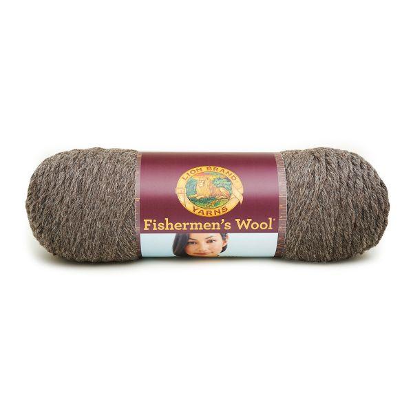 Lion Brand Fishermen's Wool Yarn - Brown Heather