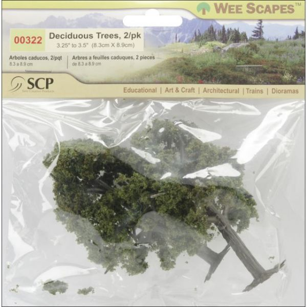 "Deciduous Trees 3.25"" To 3.5"" 2/Pkg"