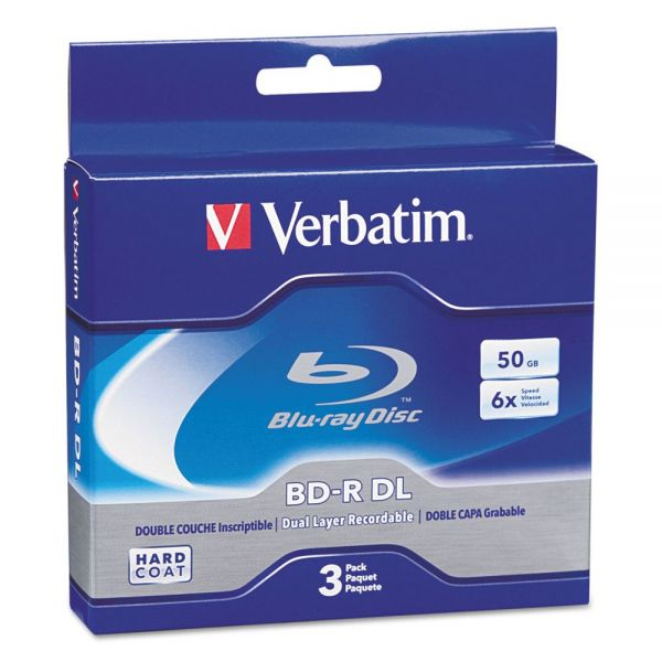 Verbatim Blu-ray Recordable Media With Jewel Cases