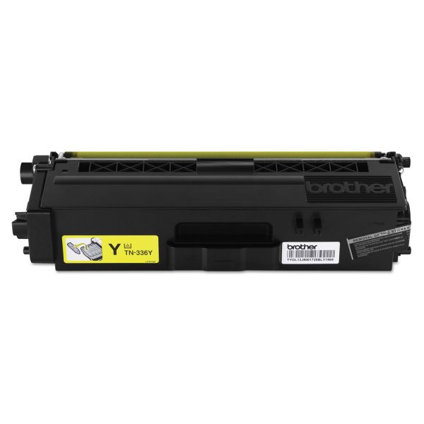 Brother TN336Y Yellow High-Yield Toner Cartridge