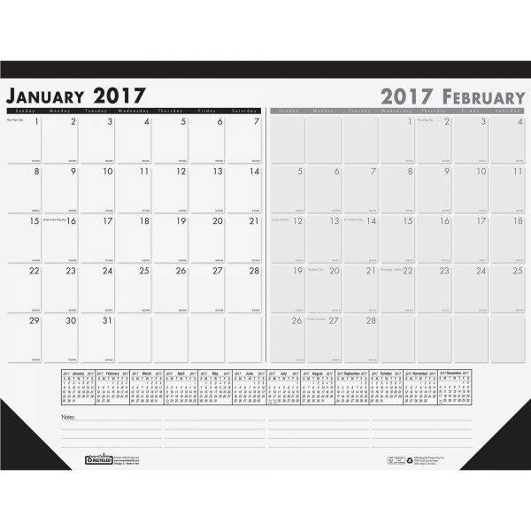 House of Doolittle Compact Two-Month Desk Pad Calendar