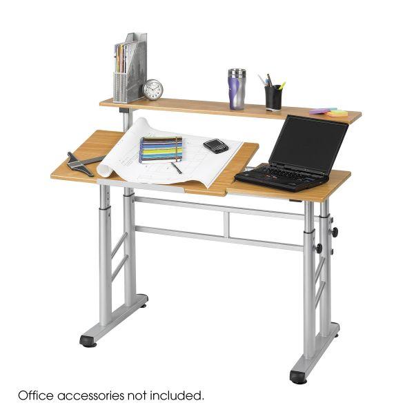 Safco Height-Adjustable Split Level Drafting Table