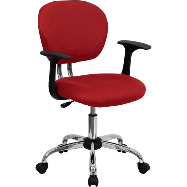 Flash Furniture Mid-Back Mesh Task Chair with Arms