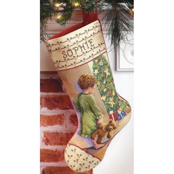 Janlynn Christmas Morning Stocking Counted Cross Stitch Kit