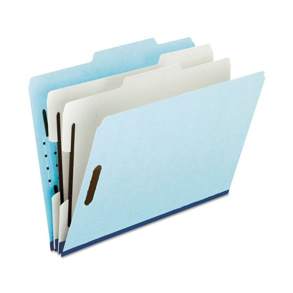Pendaflex Four- and Six-Section Classification Folders, Legal, 2/5 Tab, Blue, 10/Box