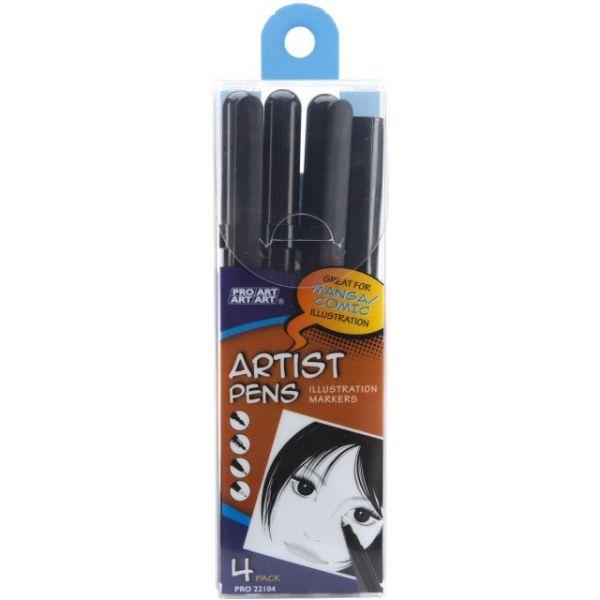 Pro Art Artist Pens 4/Pkg