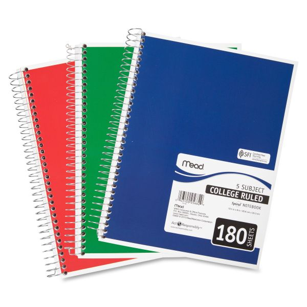 Mead 5-Subject Notebook