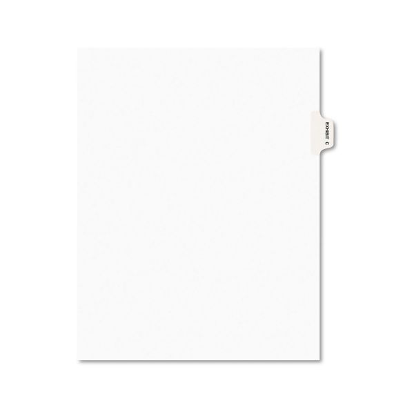 Avery Avery-Style Preprinted Legal Side Tab Divider, Exhibit C, Letter, White, 25/Pack