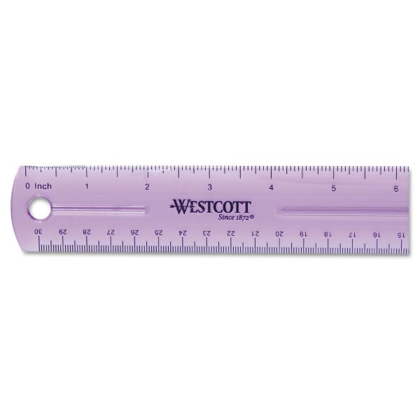 "Westcott 12"" Jewel Colored Ruler"