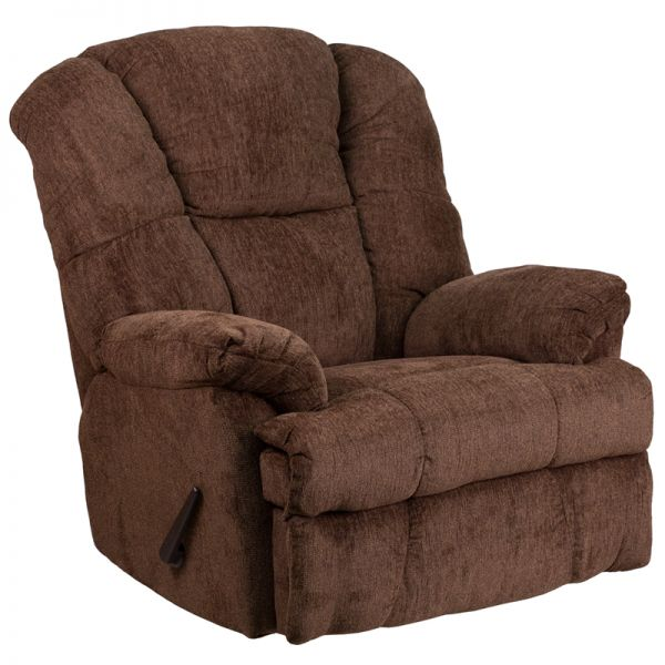 Flash Furniture Contemporary Hillel Chocolate Chenille Rocker Recliner
