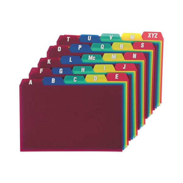 Oxford Card Guides, Alpha, 1/5 Tab, Polypropylene, 4 x 6, 25/Set