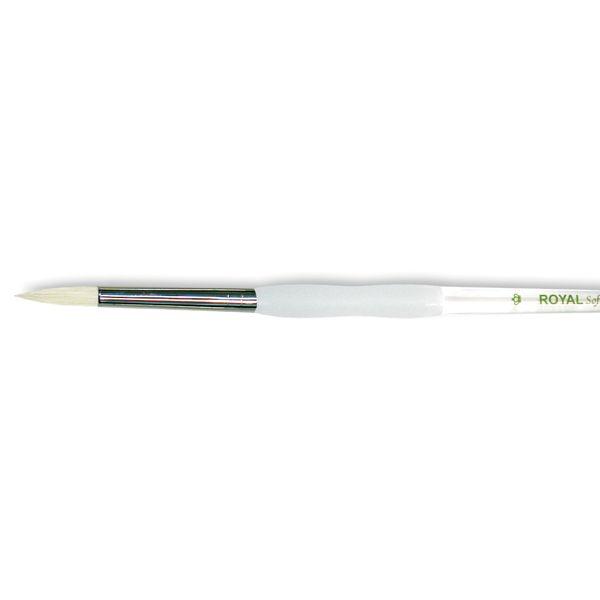Soft-Grip Bristle Round Brush