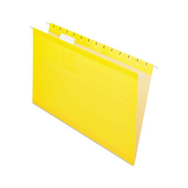 Pendaflex Reinforced Hanging Folders, 1/5 Tab, Legal, Yellow, 25/Box