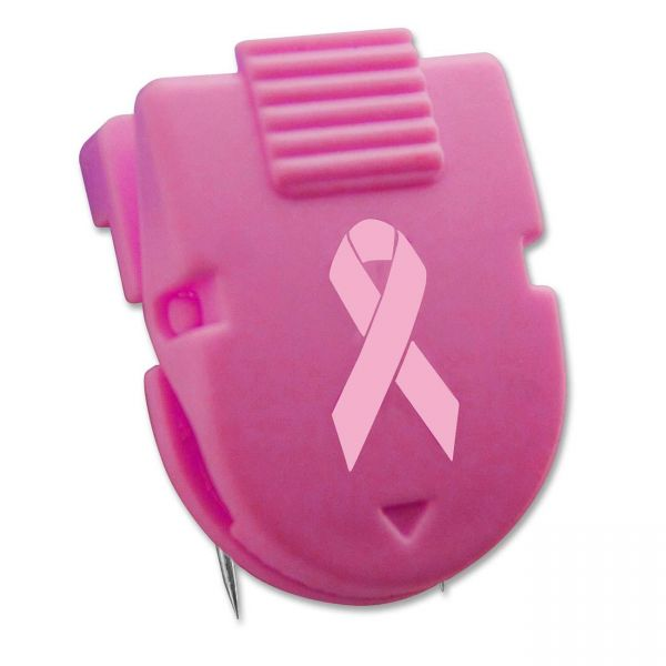 Advantus Breast Cancer Awareness Wall Clips for Fabric Panels, Pink, 10/Box