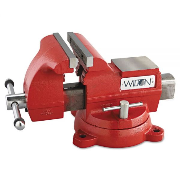 "Wilton Vise, Cast Iron, Utility, 7 1/2"" Jaw Opening, 8"" Jaw Width, 86.2lbs"