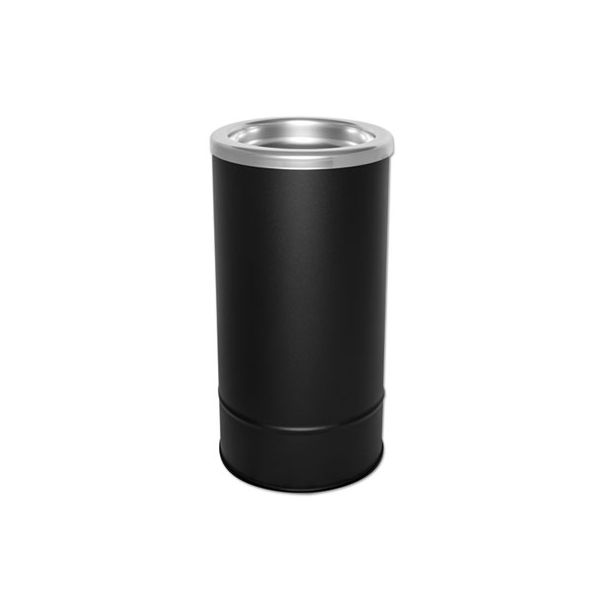 Ex-Cell Round Sand Urn with Removable Tray, Black/Chrome