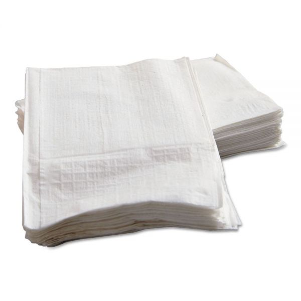 Morcon Paper Low-Fold Dispenser Napkins, 1-Ply, 9 x 12, White, 250/Pack, 32 Packs/Carton