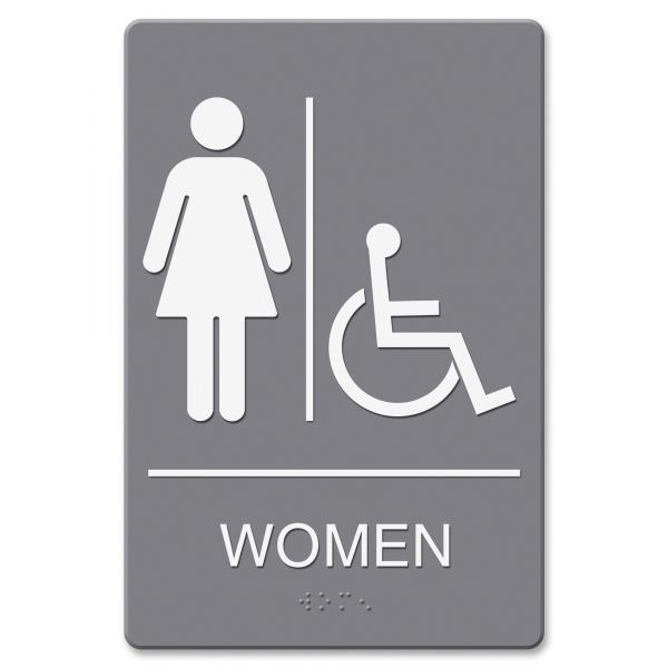 "Headline Signs Wheelchari Accessible ""Women"" Restroom Sign"