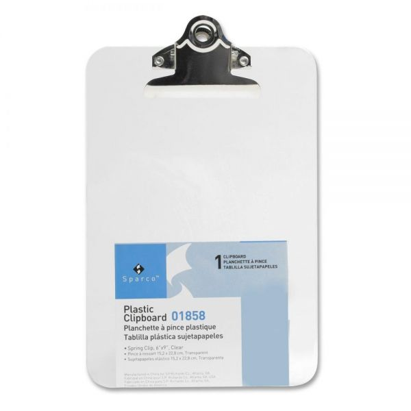 "Sparco 6"" x 9"" Plastic Clipboard"