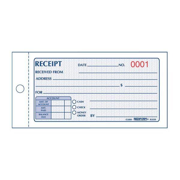 Rediform Money Receipt 2/Part Collection Forms