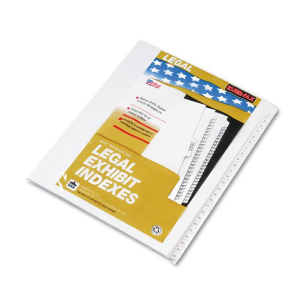 Kleer-Fax 90000 Series Legal Index Dividers