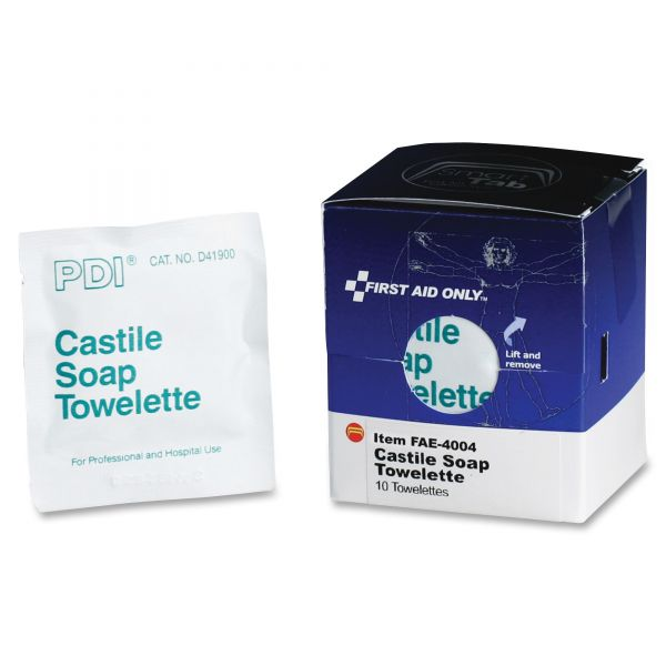 First Aid Only Castile Soap Towelettes