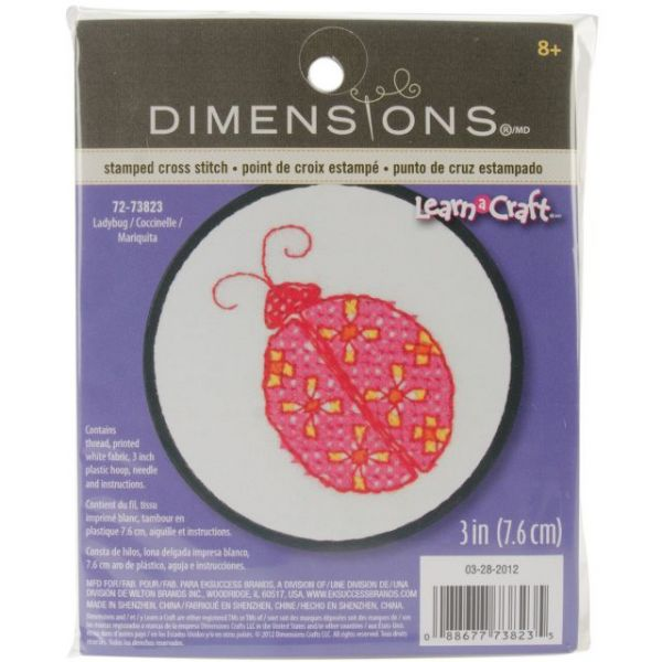 Learn-A-Craft Ladybug Stamped Cross Stitch Kit