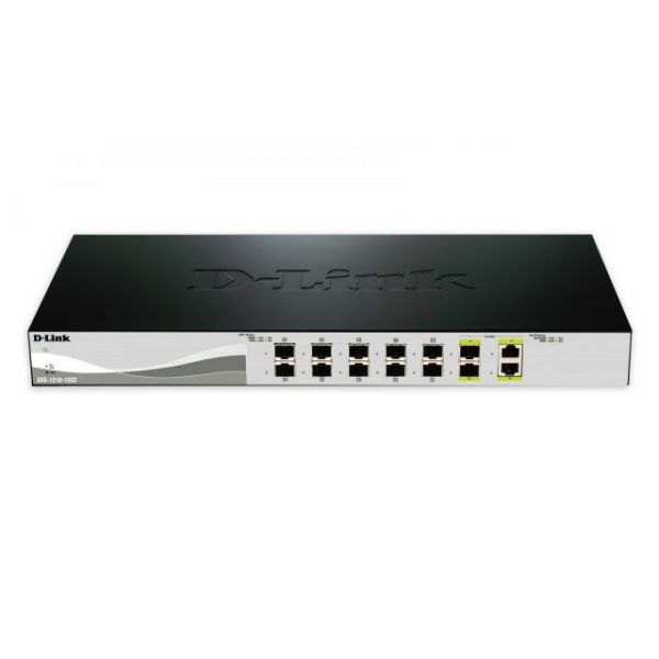 D-Link 10G Smart Switch with 10-port 10G SFP+ and 2-port 10GBASE-T/SFP+ Combo Port