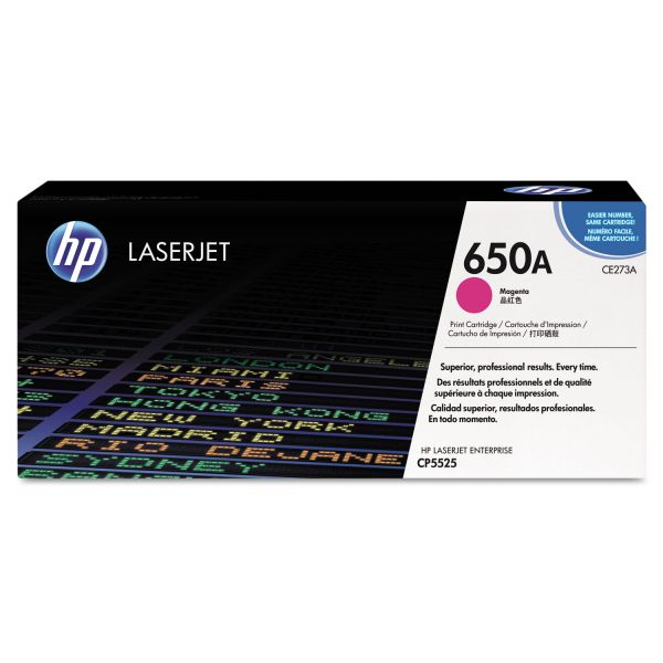 HP 650A Magenta Toner Cartridge (CE273A)