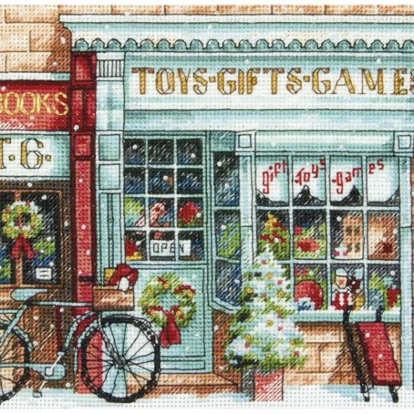 Dimensions Gold Petite Toy Shoppe Counted Cross Stitch Kit