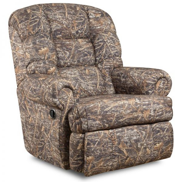 Flash Furniture Big and Tall 350 lb. Capacity Camouflaged Encore Conceal Brown Fabric Recliner