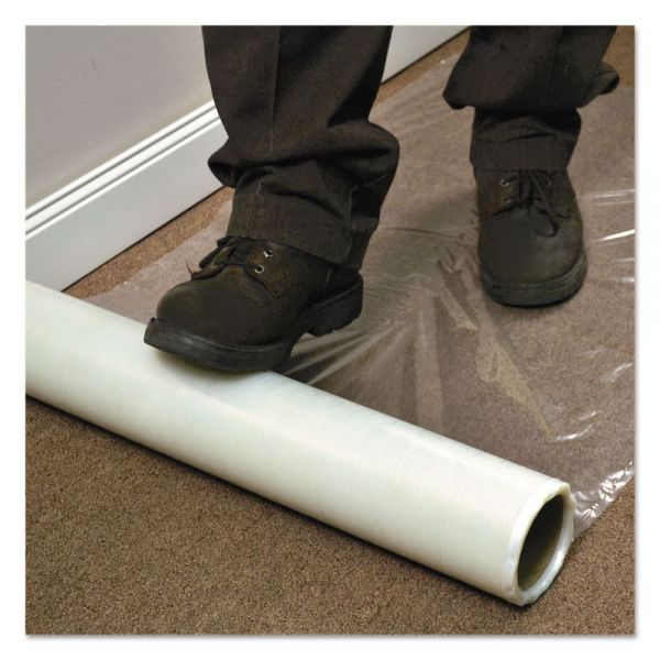 "ES Robbins Roll Guard Temporary Floor Protection Film for Carpet, 36"" x 2400"", Clear"