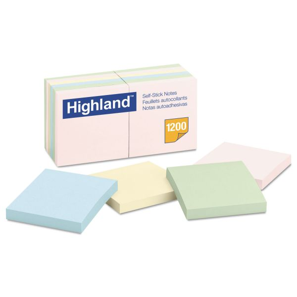"""Highland 3"""" x 3"""" Adhesive Note Pads"""