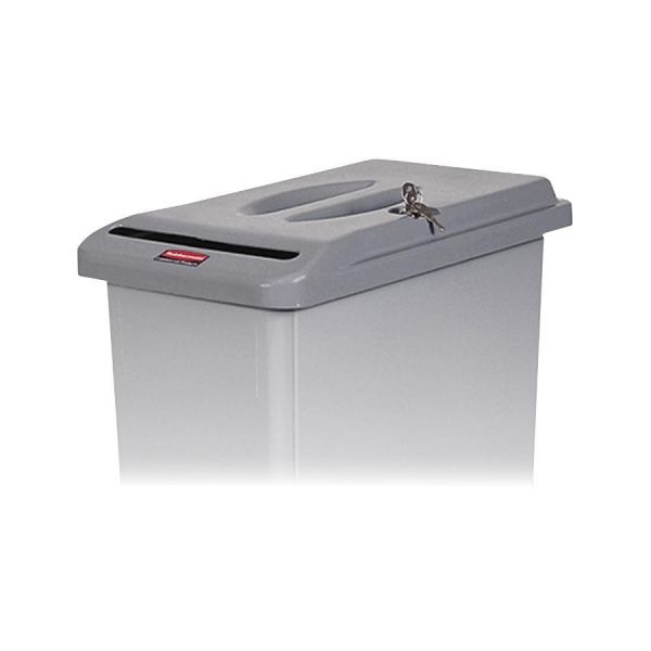 Rubbermaid Slim Jim Retrofit Lid with Lock