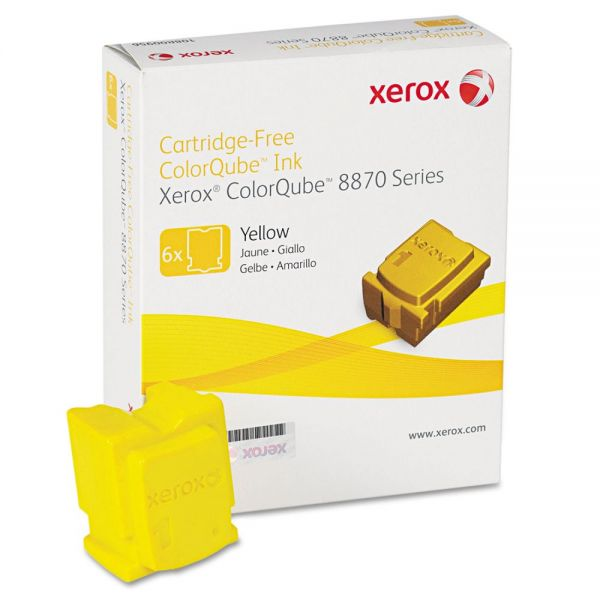 Xerox 108R00952 Solid Ink Stick, 17,300 Page-Yield, Yellow, 6/Box