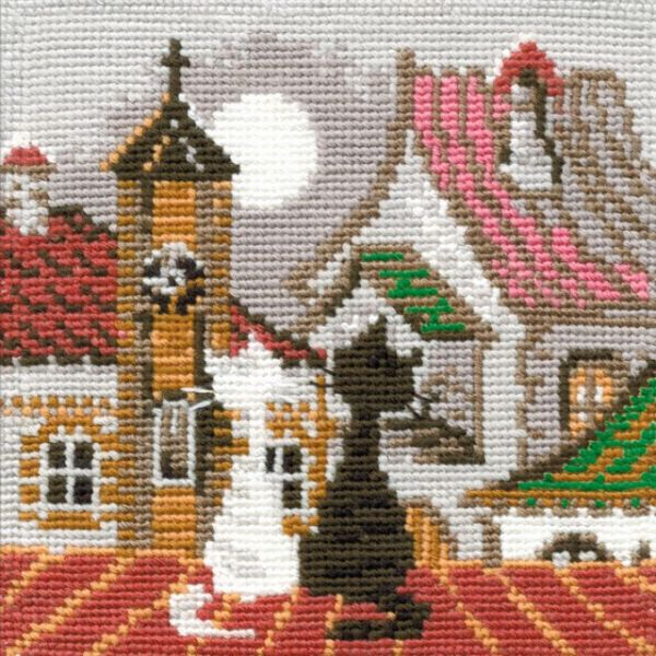 City & Cats Spring Counted Cross Stitch Kit