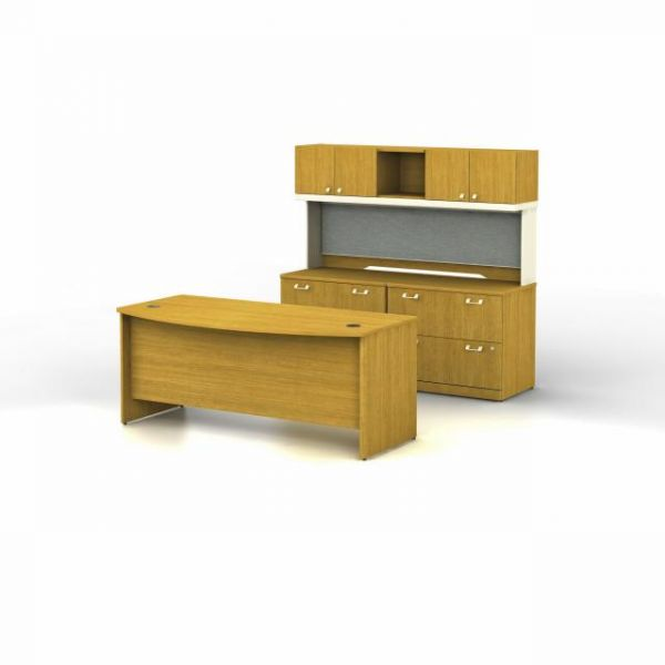 bbf Quantum Executive Configuration - Modern Cherry finish by Bush Furniture
