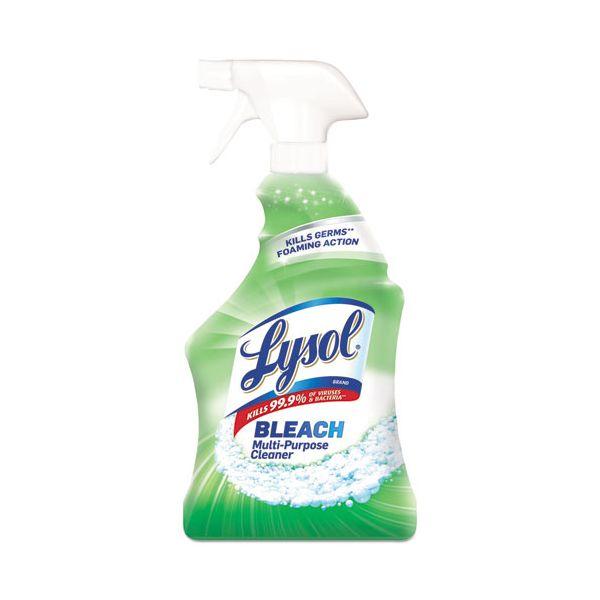 LYSOL Brand Power White & Shine Multi-Purpose Cleaner with Bleach, 32oz Spray Bottle, 12/CT