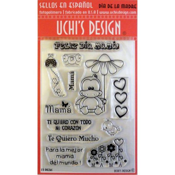 "Uchi's Design Spanish Clear Stamp Set 4""X6"" Sheet"
