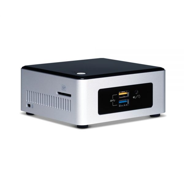 Intel NUC Desktop Computer - Intel Pentium N3700 1.60 GHz - Mini PC - Silver, Black